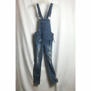 _Dollhouse Juniors Skinny Denim Overalls